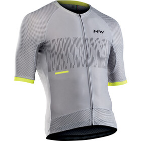 Northwave Storm Air Jersey Korte Mouwen Heren, light grey/yellow fluo